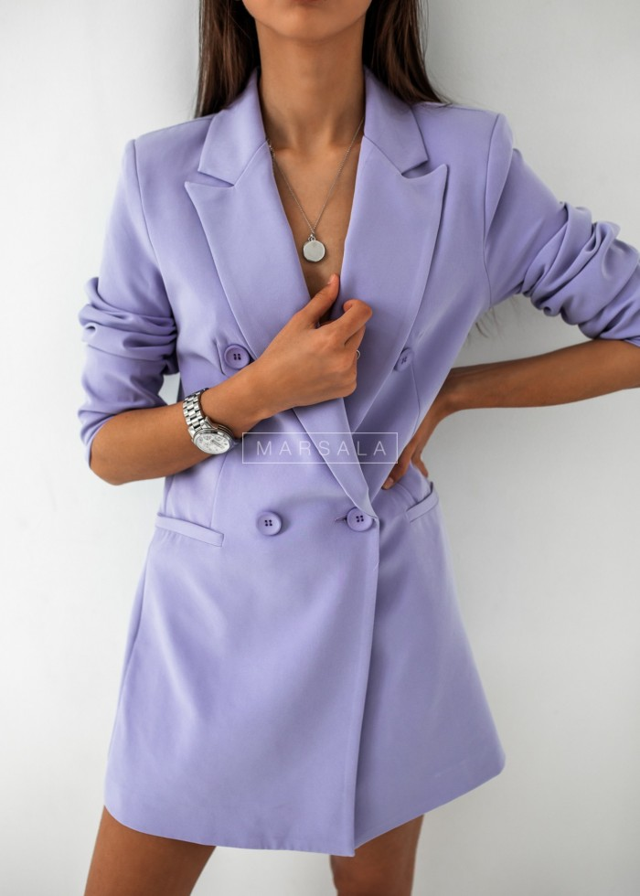 Elongated jacket in lilac - ELIZABETH x LIMITED EDITION