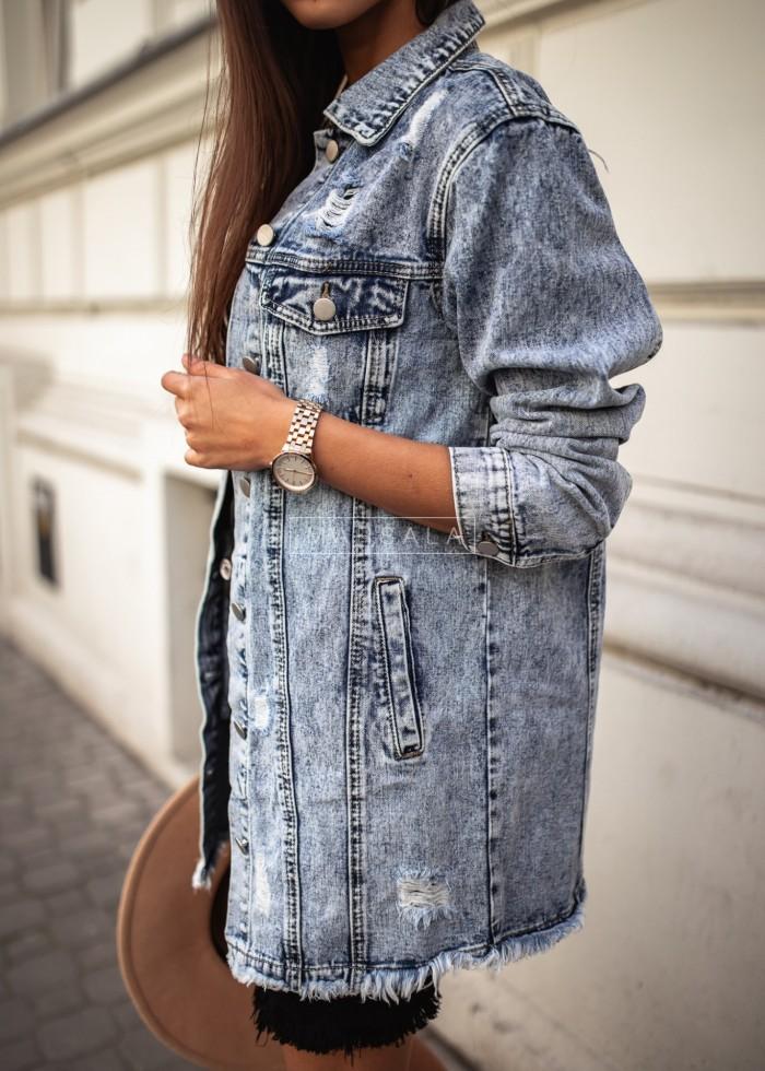 Katana jeansowa z przetarciami - RICKY