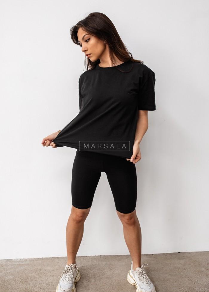 Set t-shirt + black biker shorts DOUBLE by Marsala