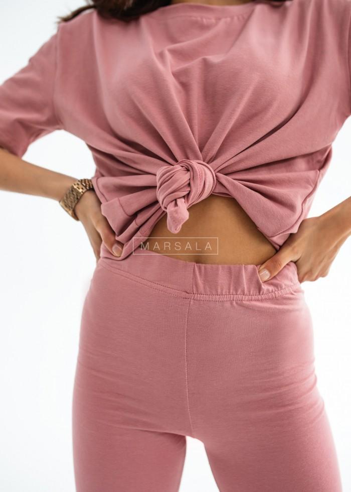 Set t-shirt + pink biker shorts DOUBLE by Marsala