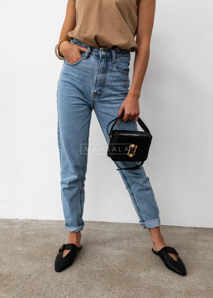 Denim mom fit jeans - HILLS