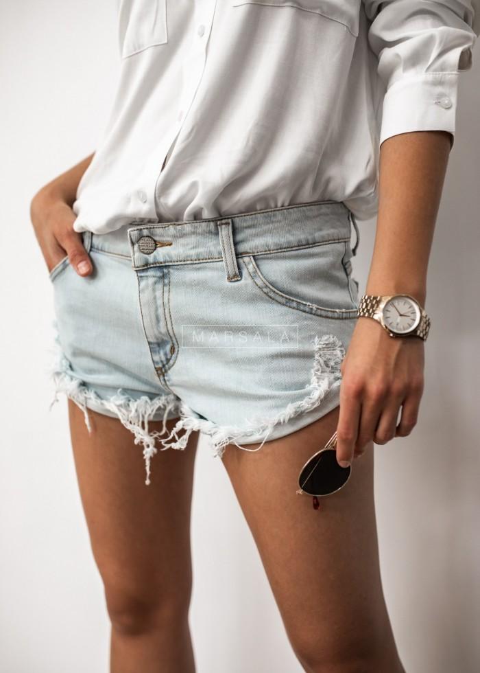 Spodenki/szorty damskie jasny jeans - SWIFT LIGHT BLUE