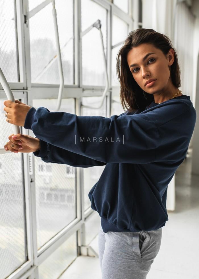 Bluza damska bez kaptura kolor granatowy - YOUNG by Marsala