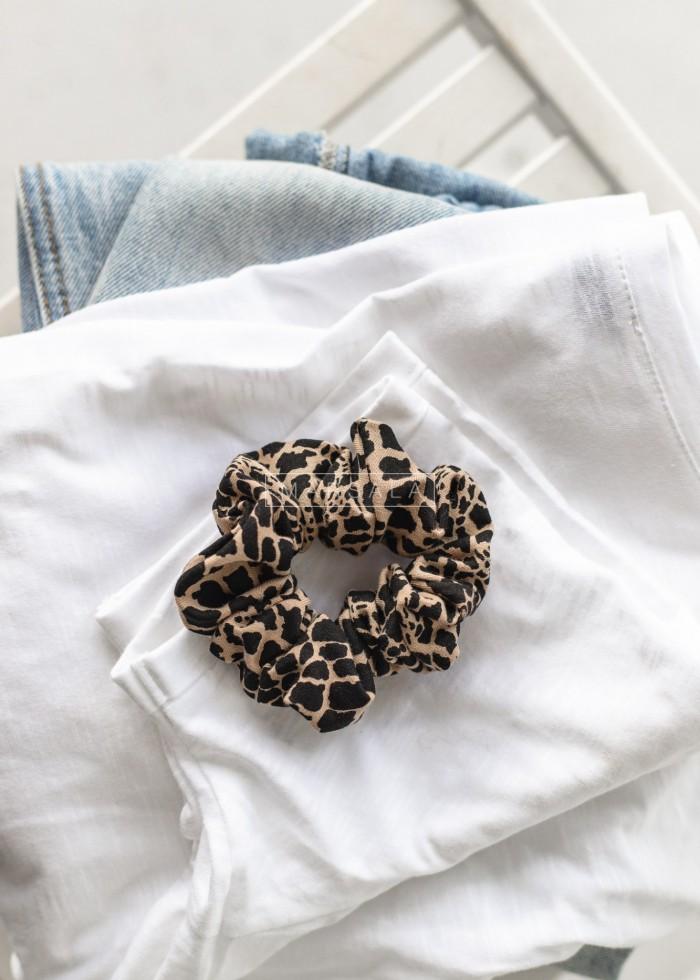 Gumka/frotka do włosów z printem giraffe- LORI by Marsala