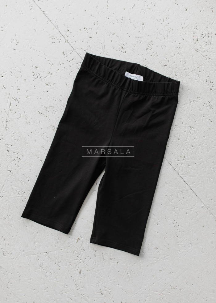 Krótkie legginsy/kolarki w kolorze czarnym - BIKER SHORTS