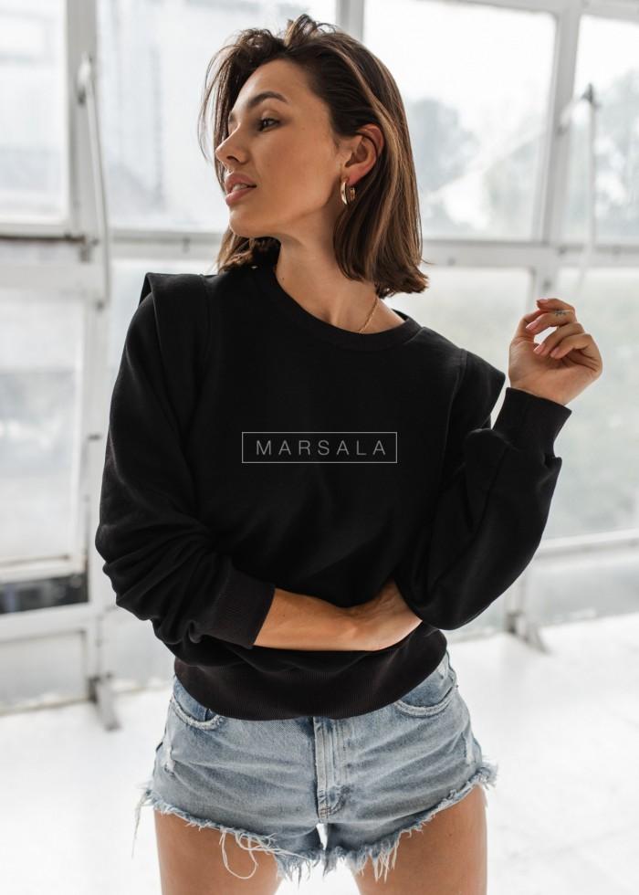 Bluza z pagonami w kolorze czarnym - GALAXY by Marsala