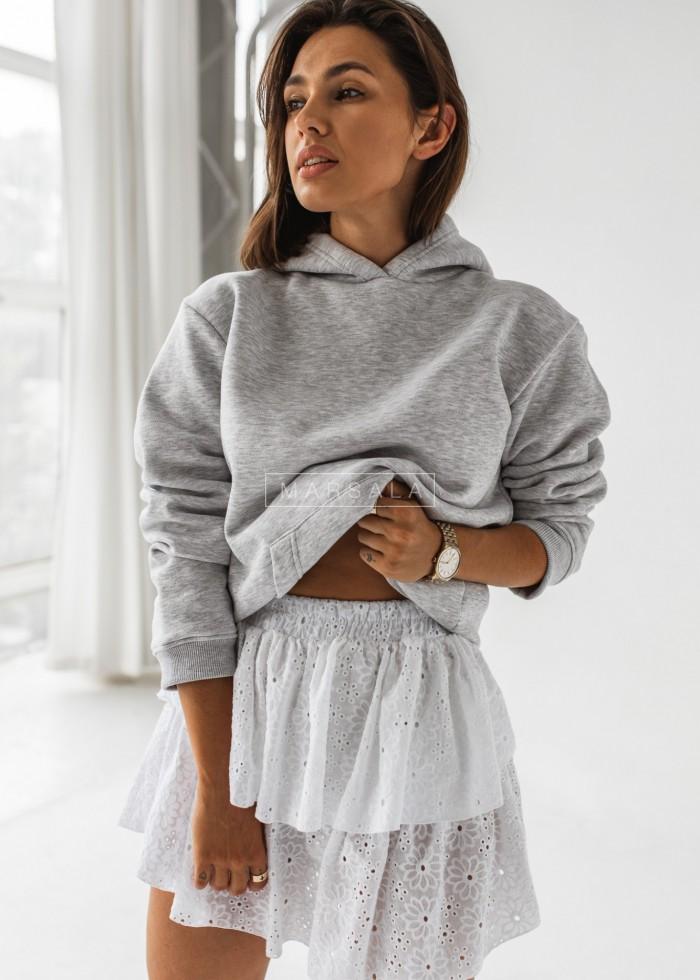 Spódniczka ażurowa w kolorze białym - LAGOON by MARSALA