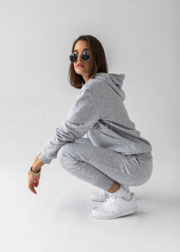 Sweatshirt + grey trousers set - CASUAL BY MARSALA