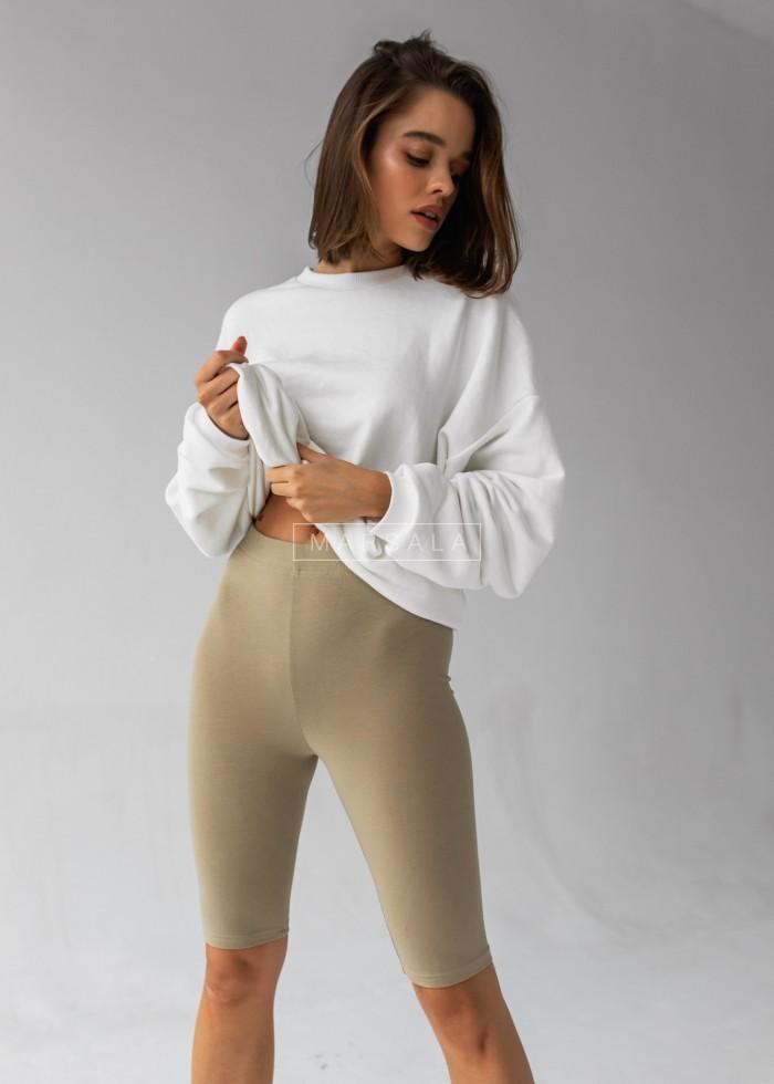 Krótkie legginsy/kolarki w kolorze oliwkowym - BIKER SHORTS