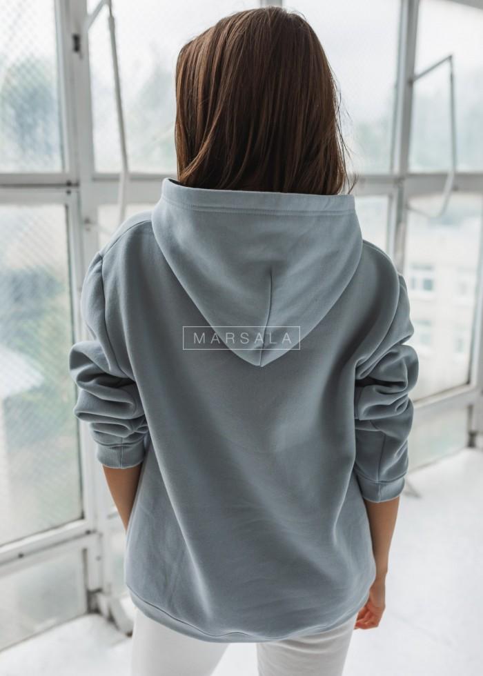 Bluza BASIC BY MARSALA z kapturem w kolorze ARCTIC BLUE