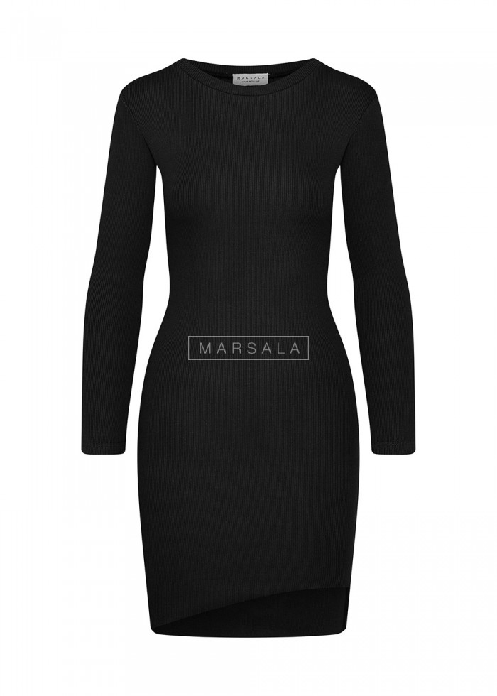 Fitted long sleeved dress in black - PASSION BY MARSALA