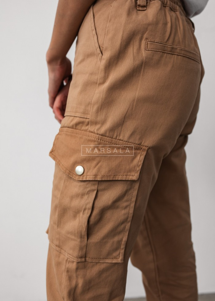 Joggers with pockets camel - GARRY POCKET