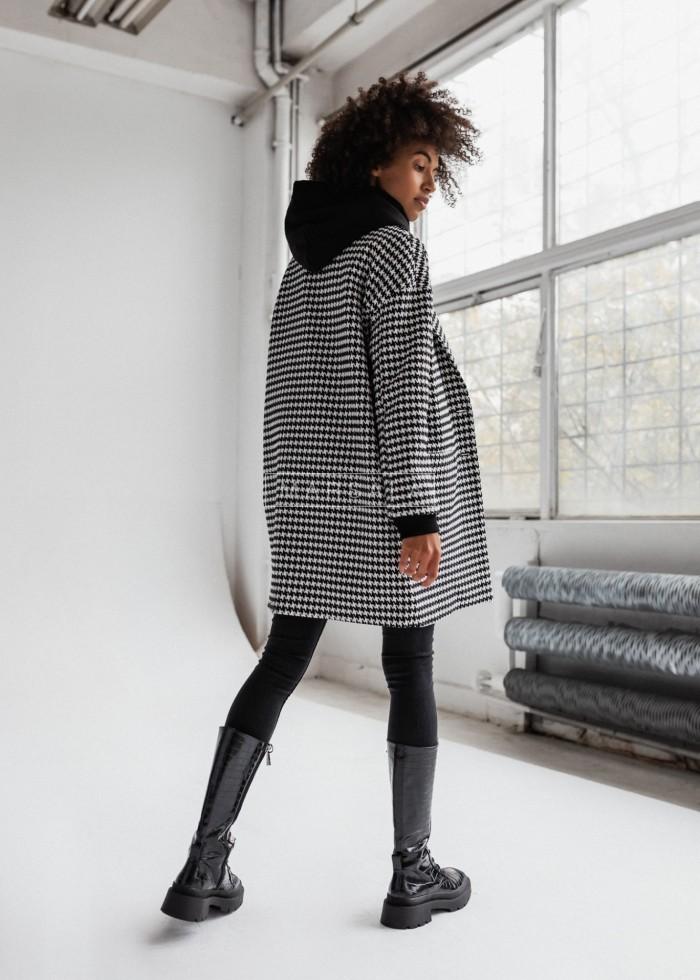 Płaszcz jesienno-zimowy w pepitkę - DENVER by Marsala