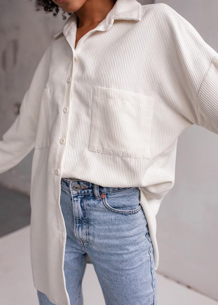 Koszula wierzchnia ze sztruksu w kolorze ecru - NORD ECRU by Marsala