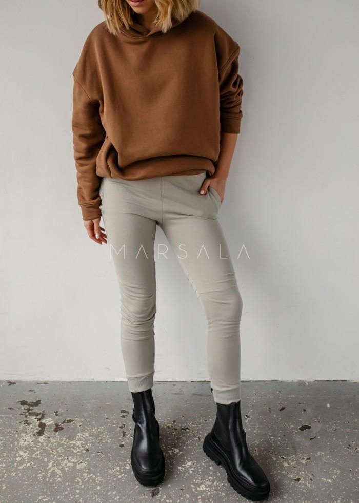 Spodnie dresowe z przeszyciami w kolorze ICE FLOW - SIMON BY MARSALA