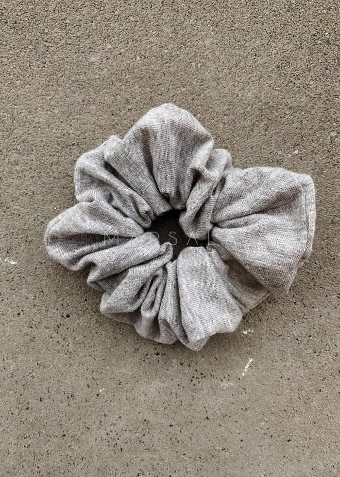 Gumka/frotka do włosów gładka w kolorze szarym- LORI by Marsala