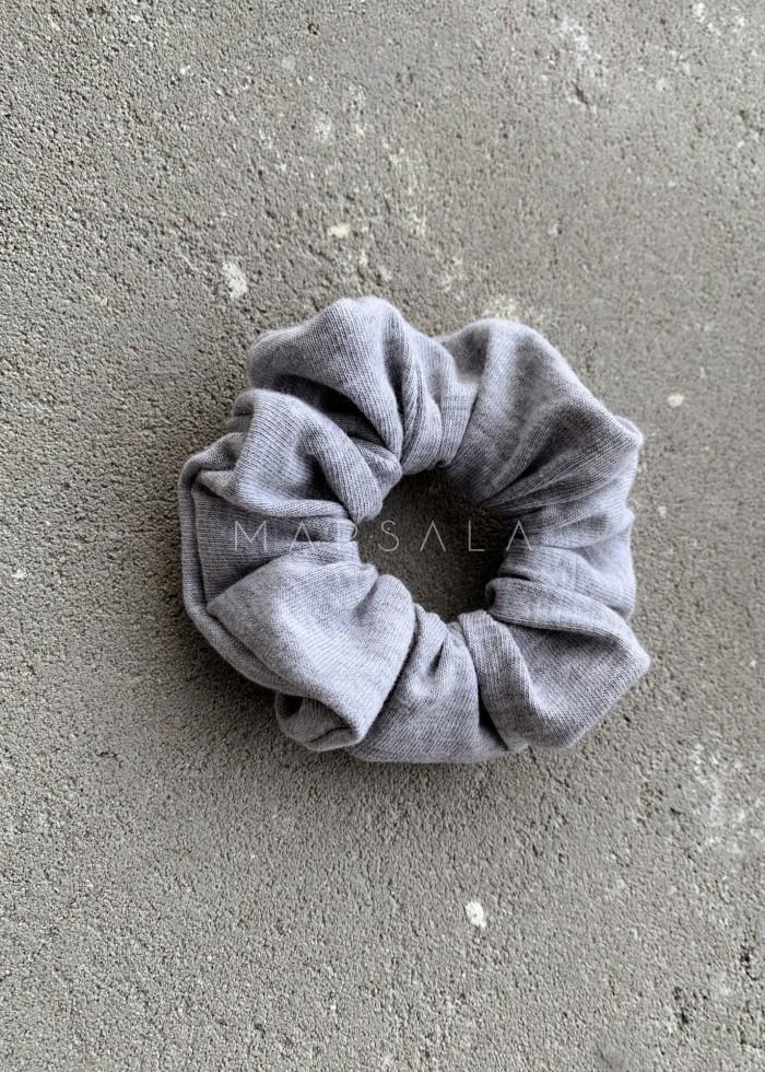 Gumka/frotka do włosów gładka w kolorze szarym- EMI by Marsala