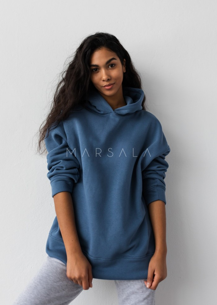 Bluza z kapturem w kolorze CLASSIC BLUE - CARDIFF by Marsala