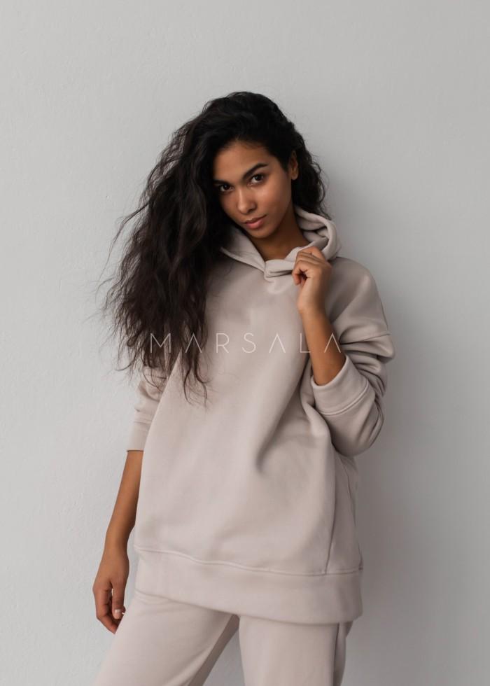 Bluza z kapturem w kolorze COCONUT MILK - CARDIFF BY MARSALA