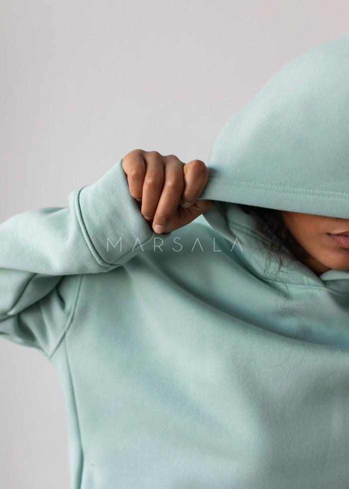 Bluza z kapturem w kolorze FRESH MINT - CARDIFF BY MARSALA