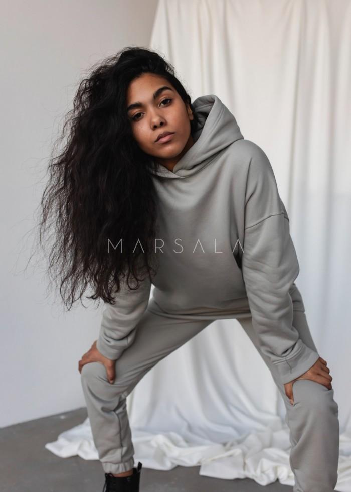 Bluza z kapturem w kolorze ICE FLOW - CARDIFF BY MARSALA