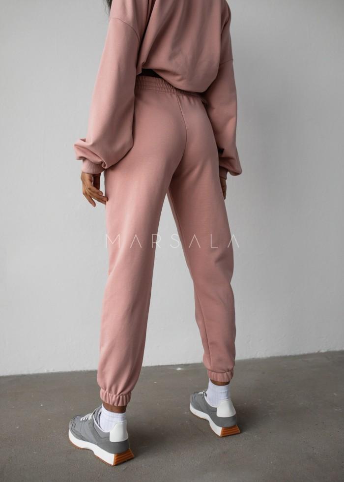 Spodnie dresowe typu jogger w kolorze DUSTY PINK - DISPLAY by Marsala