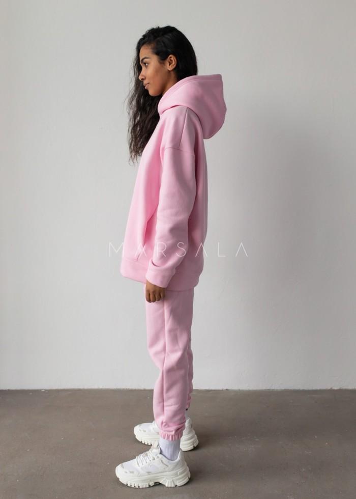 Spodnie dresowe typu jogger w kolorze BARBIE PINK - DISPLAY by Marsala