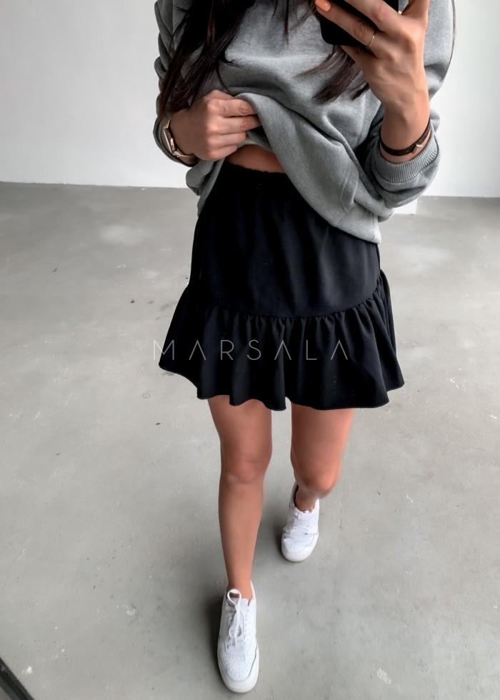 Spódniczka mini w kolorze czarnym z falbanką na dole - MISSY BY MARSALA