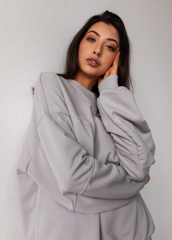 Women's smooth sweatshirt in COOL GREY - SANDY BY MARSALA