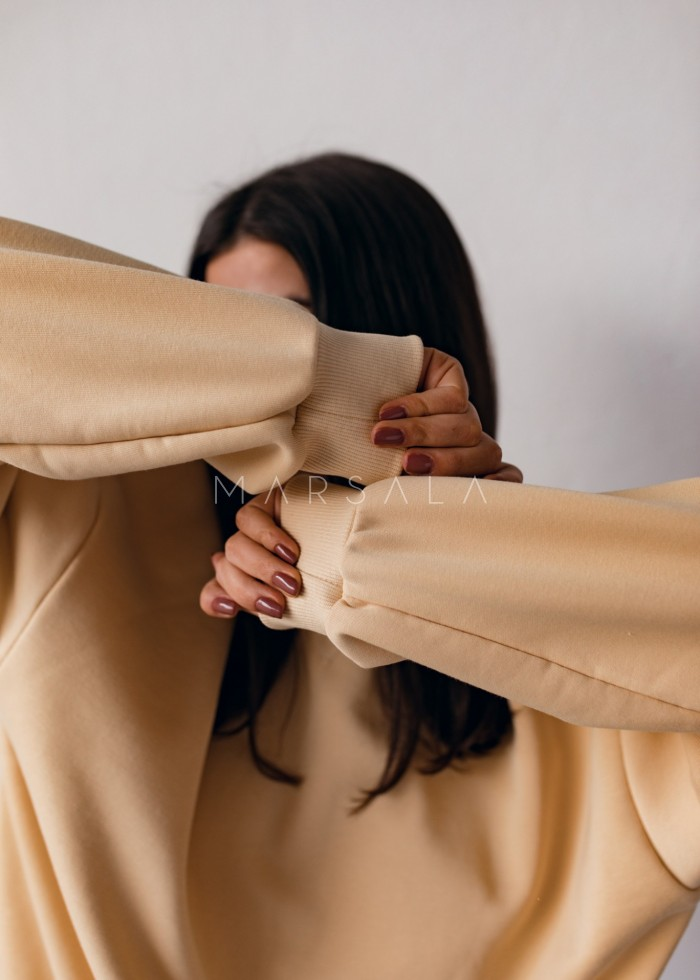 Women's smooth sweatshirt in TRANSPARENT YELLOW - SANDY BY MARSALA