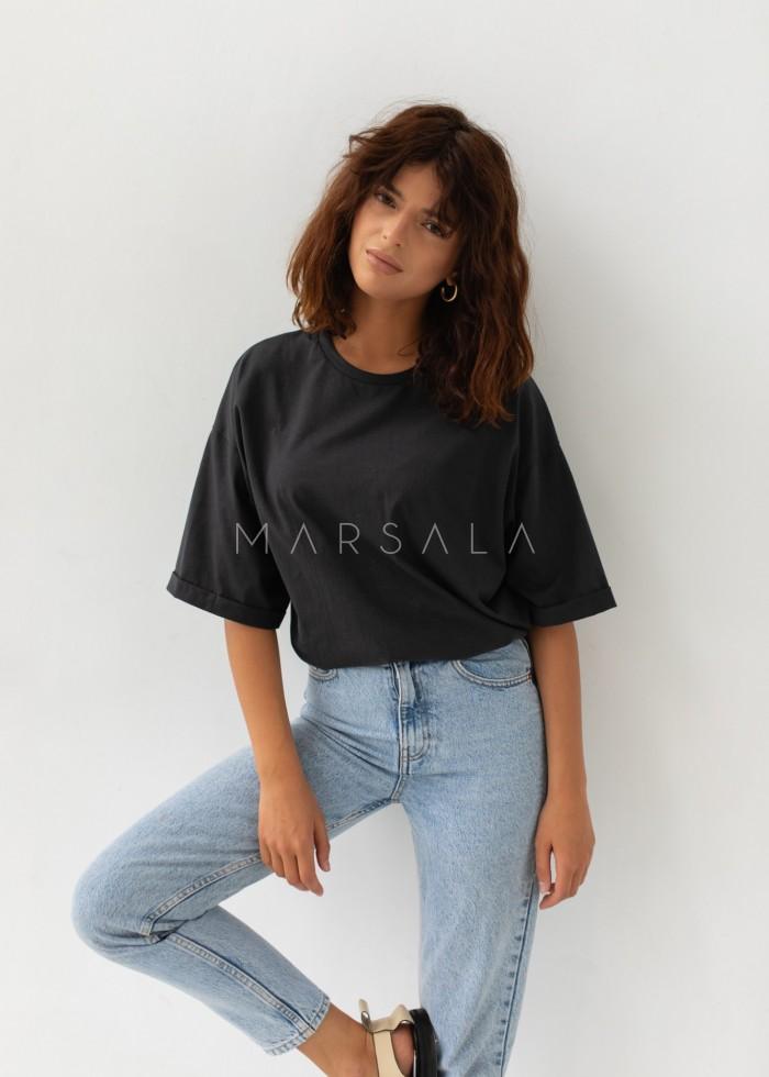 T-shirt typu oversize w kolorze MOONLIT OCEAN- COY BY MARSALA