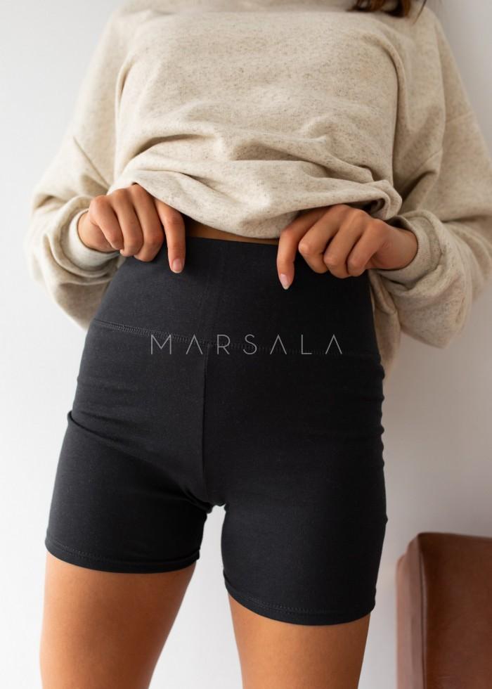 Ribbed biker shorts in MOONLIT OCEAN - RIDER BY MARSALA