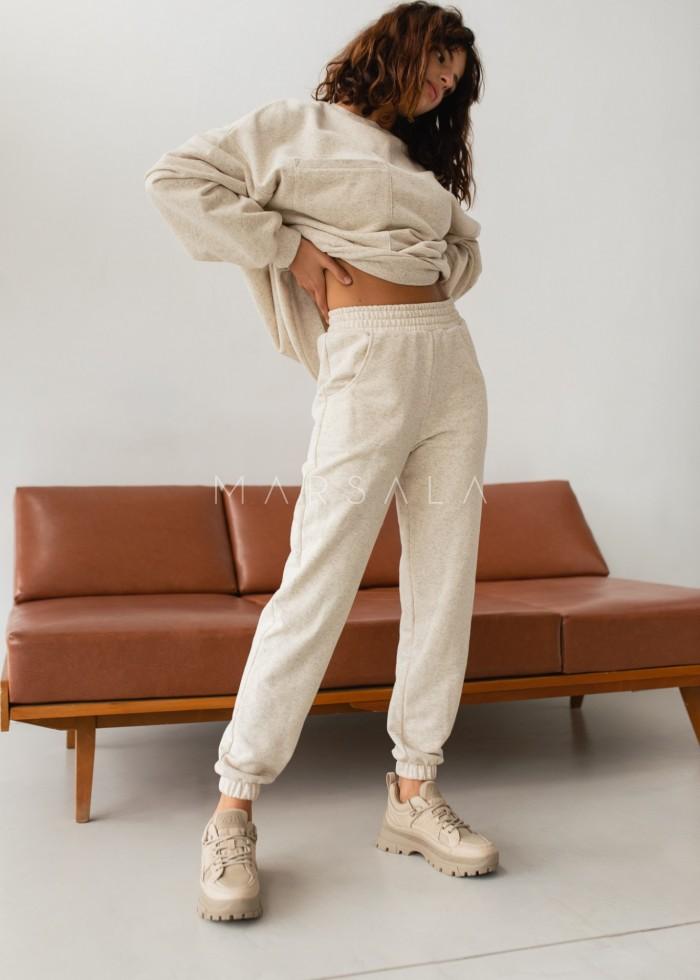Jogger pants in BEIGE with hemp fibers - DISPLAY BY MARSALA