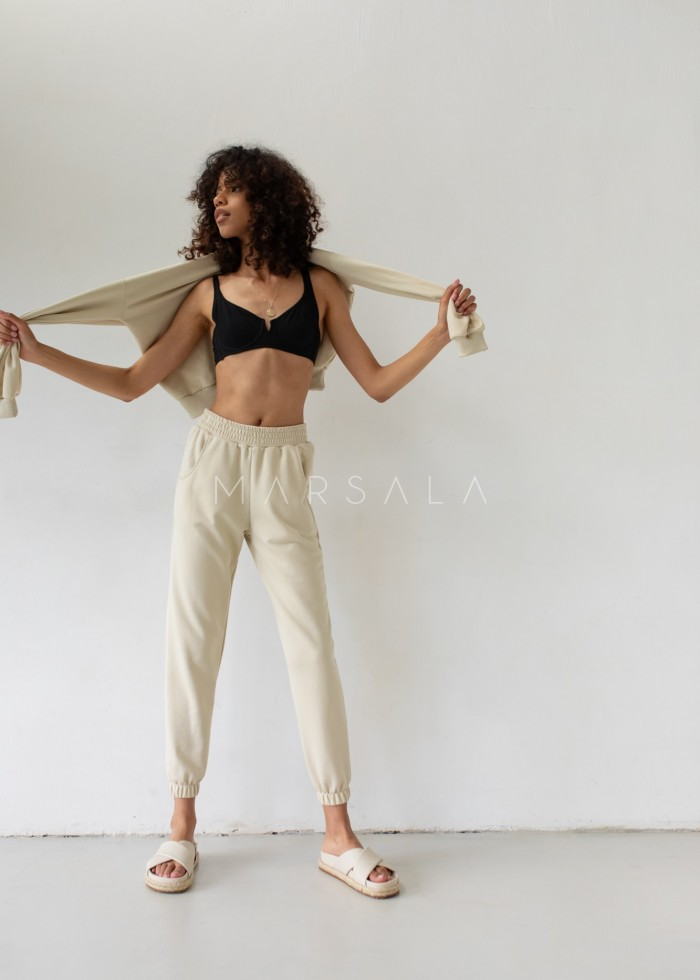 Jogger pants in CANNOLI CREAM - DISPLAY BY MARSALA