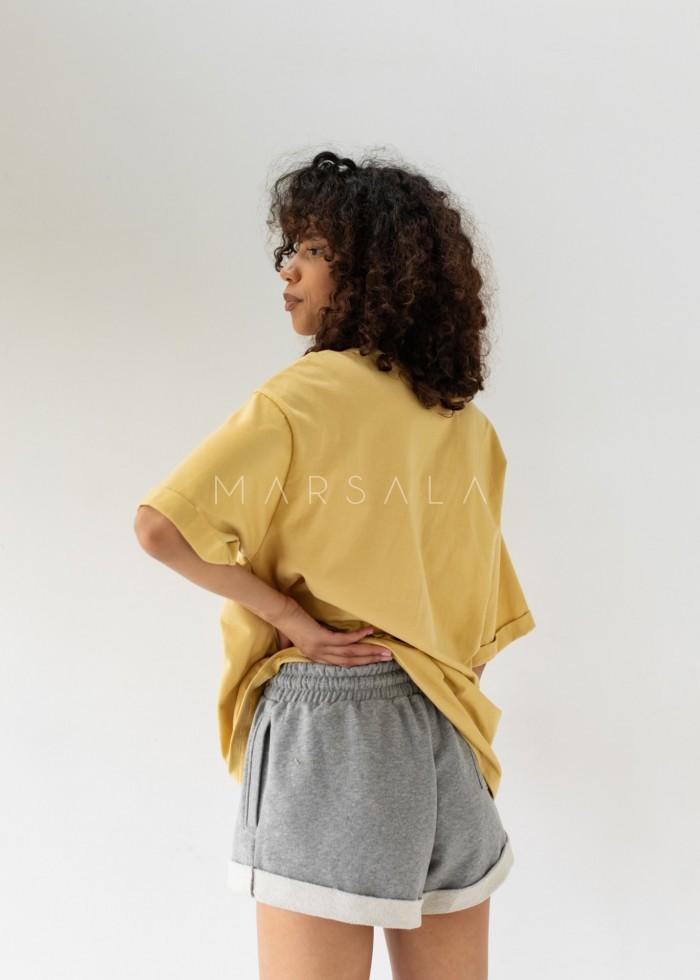 Oversized T-shirt in HAZELNUT- COY BY MARSALA