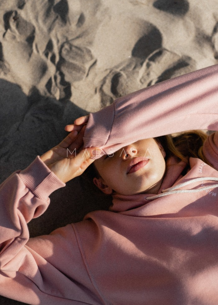 DUSTY PINK - CHILLIN BY MARSALA hooded sweatshirt for women