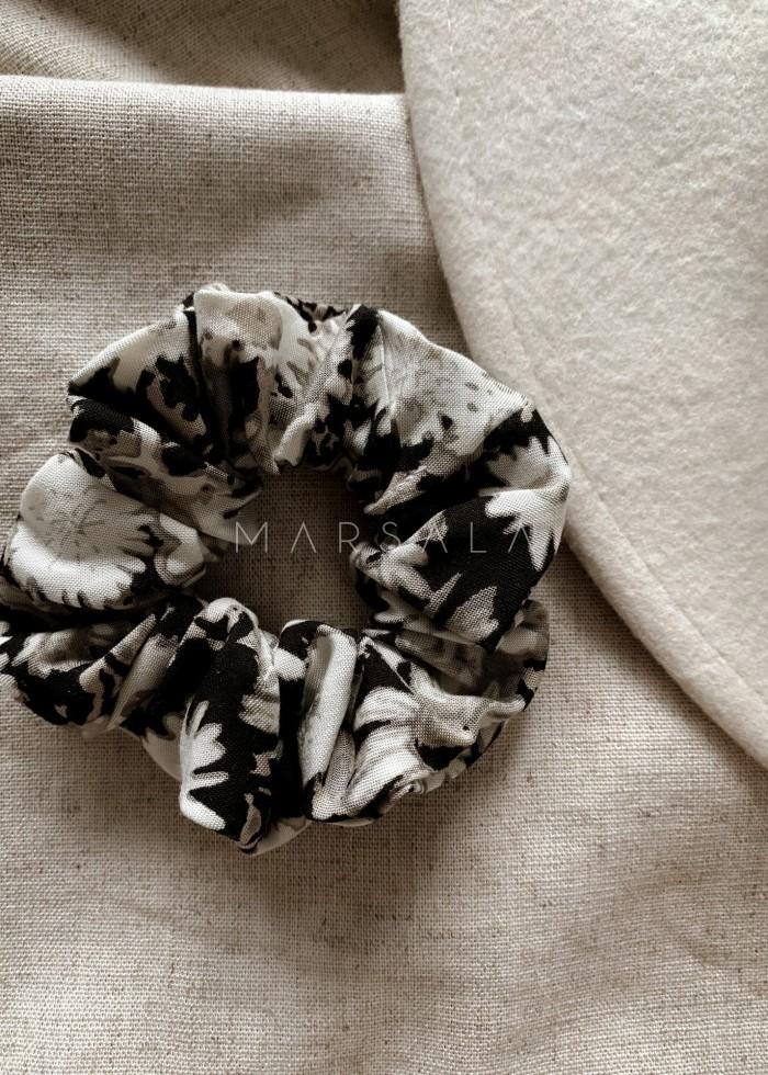 Gumka/frotka do włosów z nadrukiem w kwiatuszki EMI by MARSALA