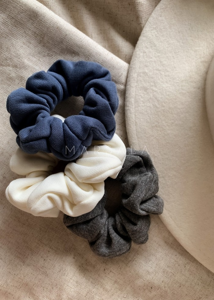 Gumka/frotka do włosów z dzianiny dresowej w kolorze breezy blue EMI by MARSALA