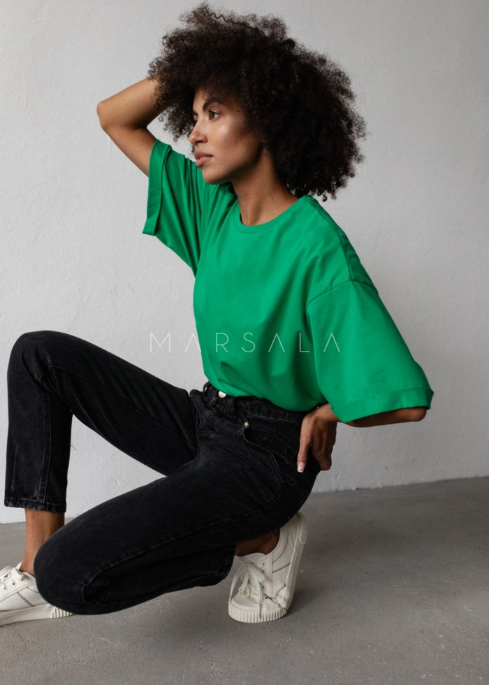 Oversized T-shirt in ISLAND GREEN - COY BY MARSALA