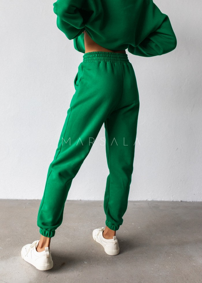 Jogger pants in POISON GREEN - DISPLAY BY MARSALA