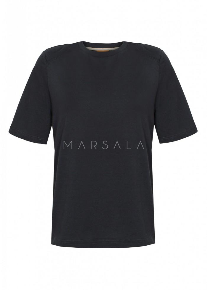 T-shirt damski z poduszkami na ramionach w kolorze MOONLIT OCEAN - SPECTRE BY MARSALA